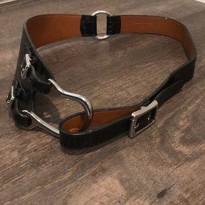 Lauren Ralph Lauren black leather belt💚